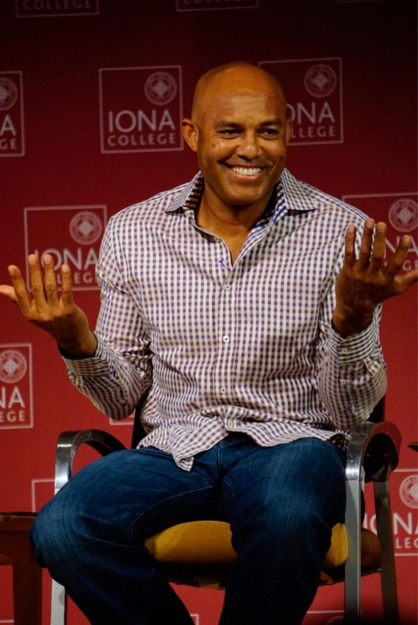 Former Yankees closer Mariano Rivera talks to the Iona community about faith.