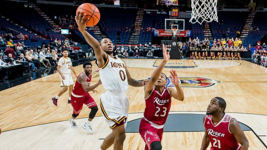 Iona guard Rickey McGill tallied eight points and six assists in the season opener against Albany.