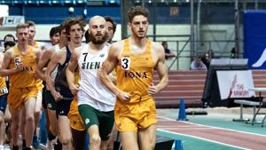 Iona men's and women's track and field teams finished top five in MAAC Indoor Championship
