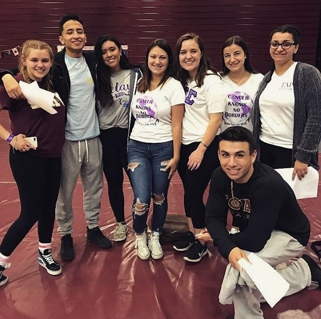 The Council for Greek Governance e-board (both past and current members seen above) help make sure Greek organizations are participating in philanthropic activities such as Relay for Life.