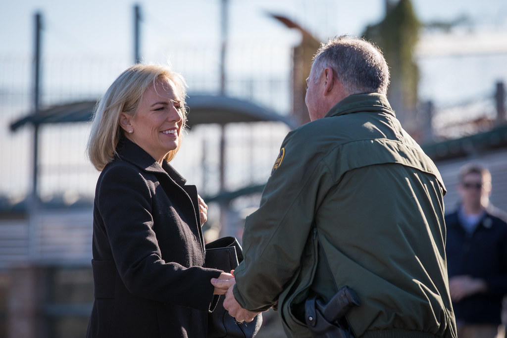 Nielson, who served as the Secretary of Homeland Security, met with the Secretary of Defense John Mattis in November of last year.