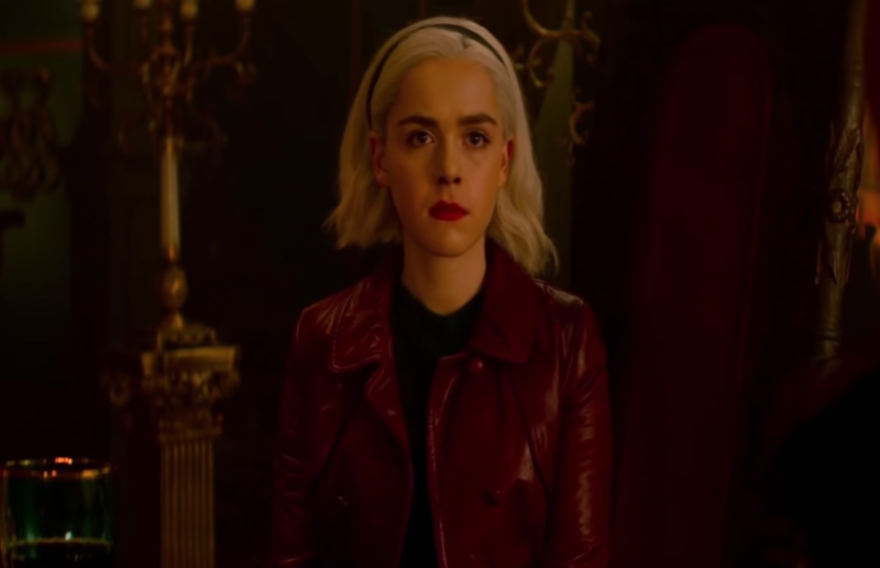 "The second season of ""Chilling Adventures of Sabrina"" released on Net ix on April 5. Sabrina, who is half-witch and half-mortal, challenges dark forces that threaten her and her friends."