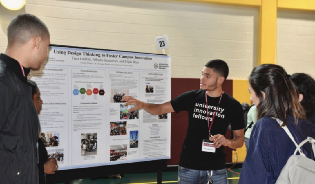 Students from majors across campus present their undergraduate research at Iona College's Scholars Day.