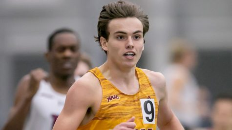 Junior Damien Dilcher placed second in the 800-meter at the Metropolitan Indoor Track and Field Championships and third in the mile race at the 2020 Metro Atlantic Athletic Conference Indoor Track and Field Championships. Photo courtesy of icgaels.com.