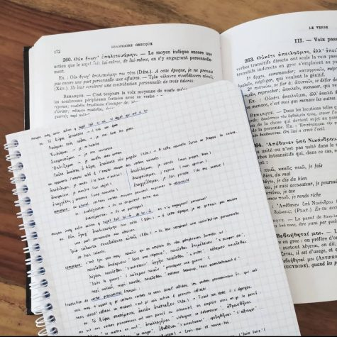 Rewriting your notes is one way to help you study for finals. / Photo from scholar_witch on Instagram