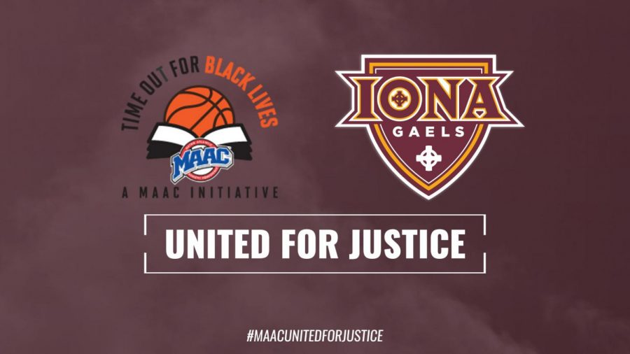 "All 11 teams in the Metro Atlantic Athletic Conference have joined in with MAAC's ""Time Out for Black Lives"" initiative. // Photo courtesy of icgaels.com."