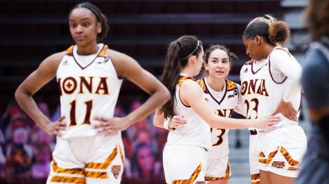 Senior Olivia Vezaldenos scored a season-high 25 points against Niagara while junior Juana Camilion made a season-high 10 field goals against Niagara as well. // Photo courtesy of icgaels.com.