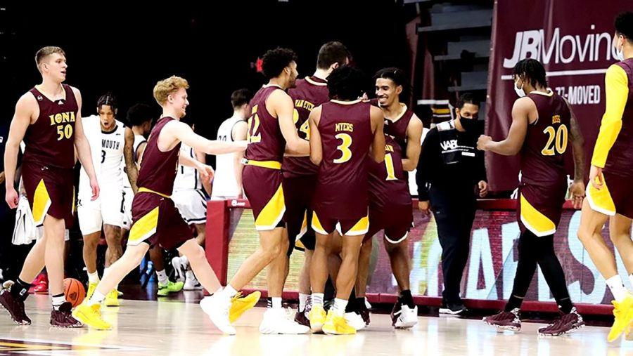 The Iona College men's basketball team takes on Quinnipiac in the first round of the Metro Atlantic Athletic Conference // Photo courtesy of icgaels.com.