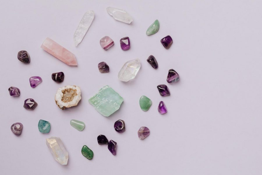 There are plenty of crystals to choose from, but crystals like rose quartz, amethyst, and selenite are very popular.