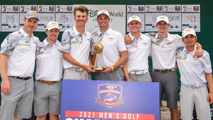 Iona finished their championship performance with a +5 score, their best in the three-year championship run.